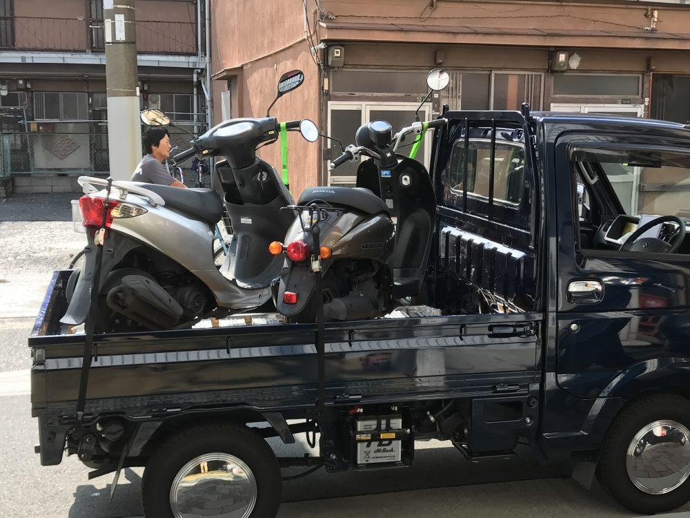 西宮市と宝塚市までバイク引き取り!